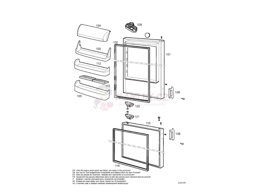 spare parts fridge electrolux erb 3645 20060116 rh mamlux eu Electrolux Refrigerators Parts Catalog Electrolux Professional Refrigerator
