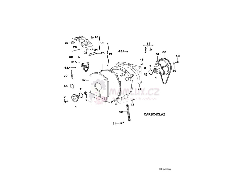 Spare Parts Washing Machine Electrolux Ewt 13420w 20071106 Motor Wiring Diagram Pdf Manual 2