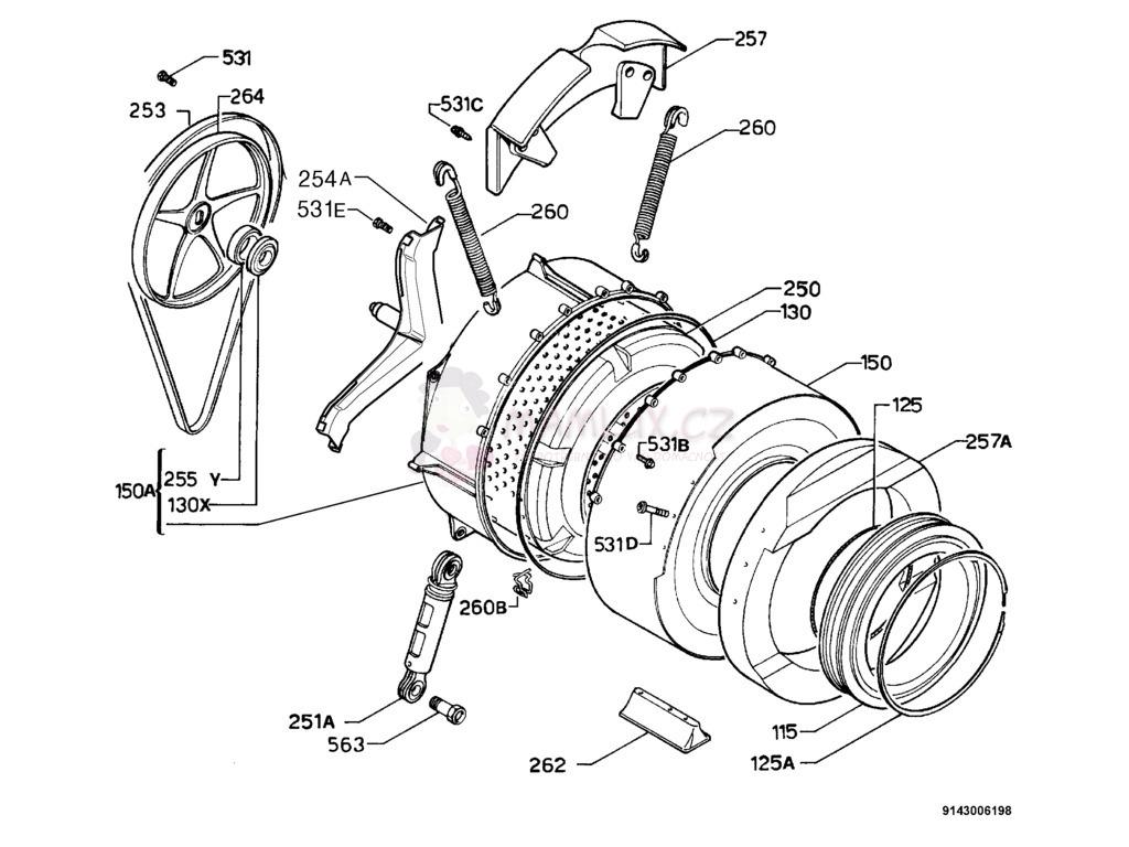 Spare Parts Washing Machine Electrolux Ew 935s 20020513 Motor Wiring Diagram Pdf Manual 2