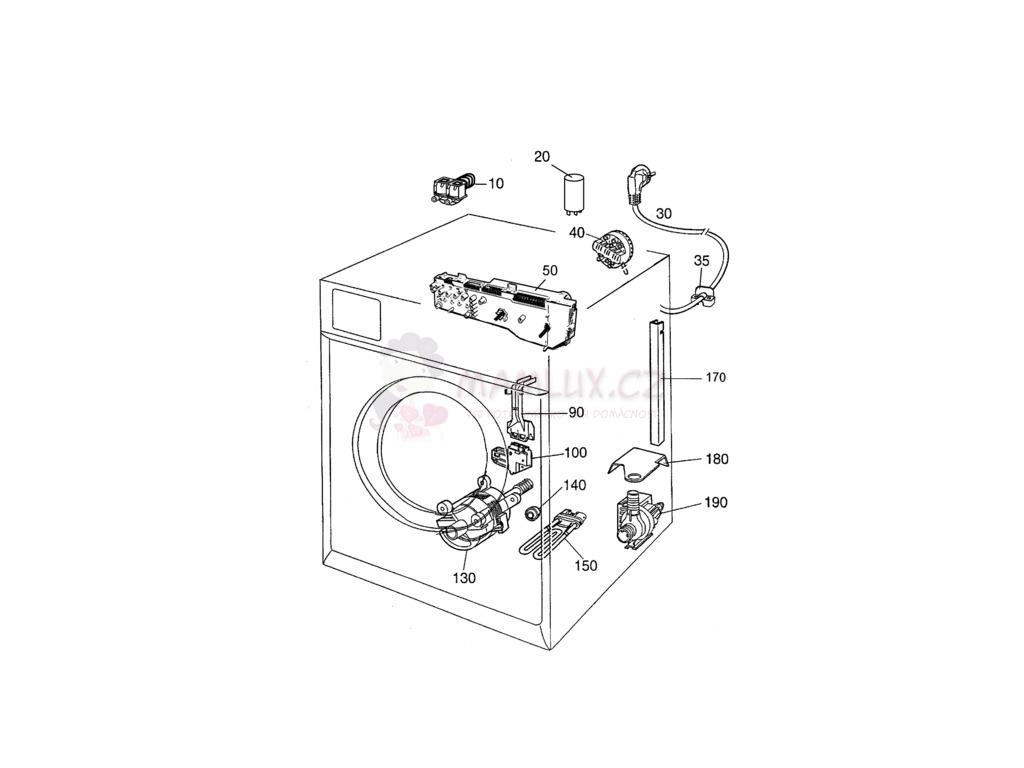 technische zeichnung waschmaschine