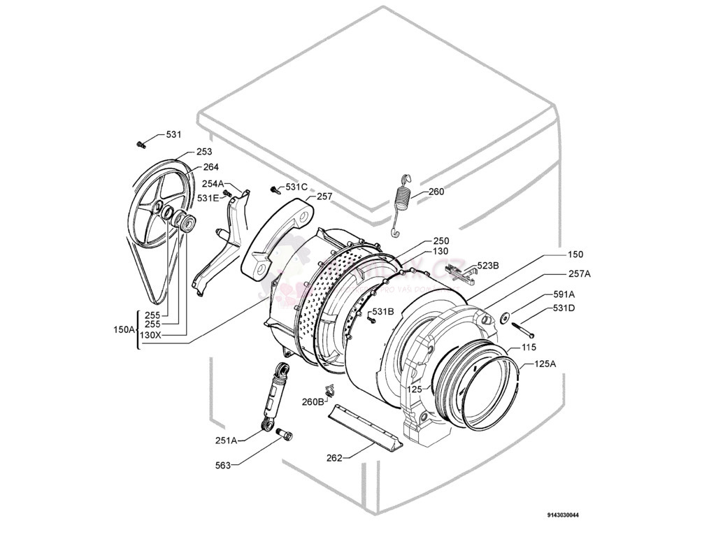 parts for electrolux washing machine