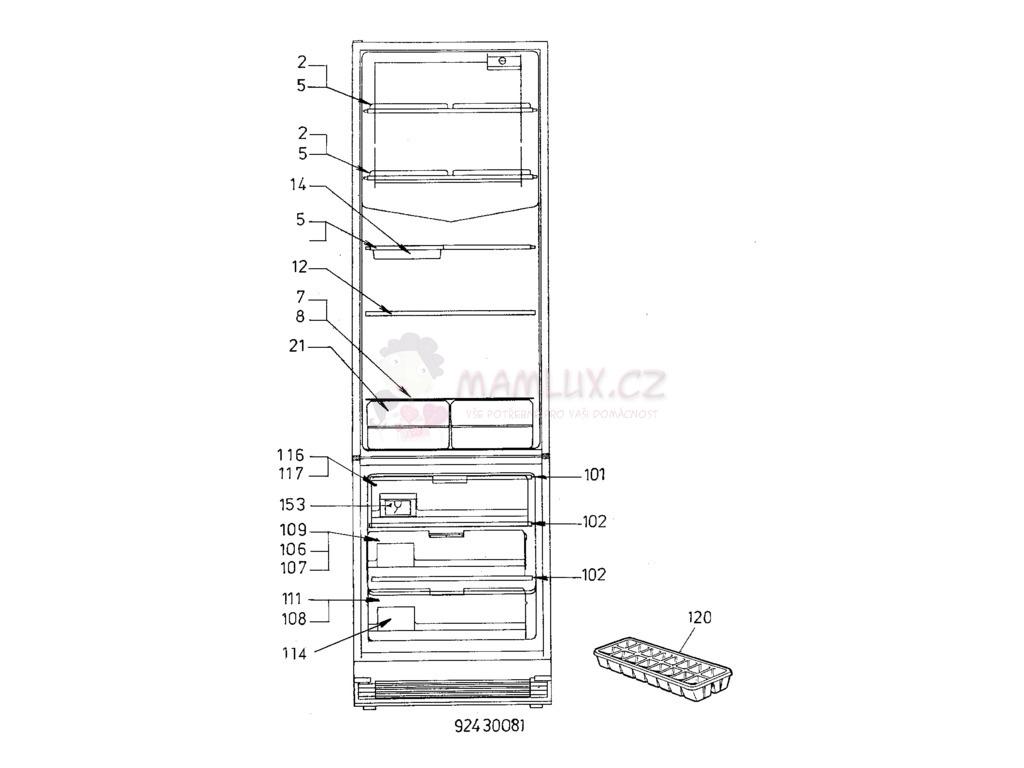 spare parts fridge electrolux er 3000b 19910918s rh mamlux eu Electrolux Replacement Parts Electrolux Parts List Model Number