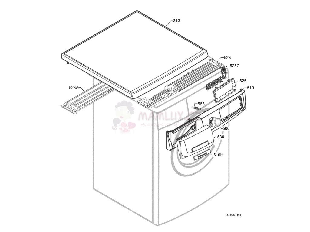spare parts washing machine electrolux ewf 12981 w 20081114 Washing Machine Motor Wiring manual 4