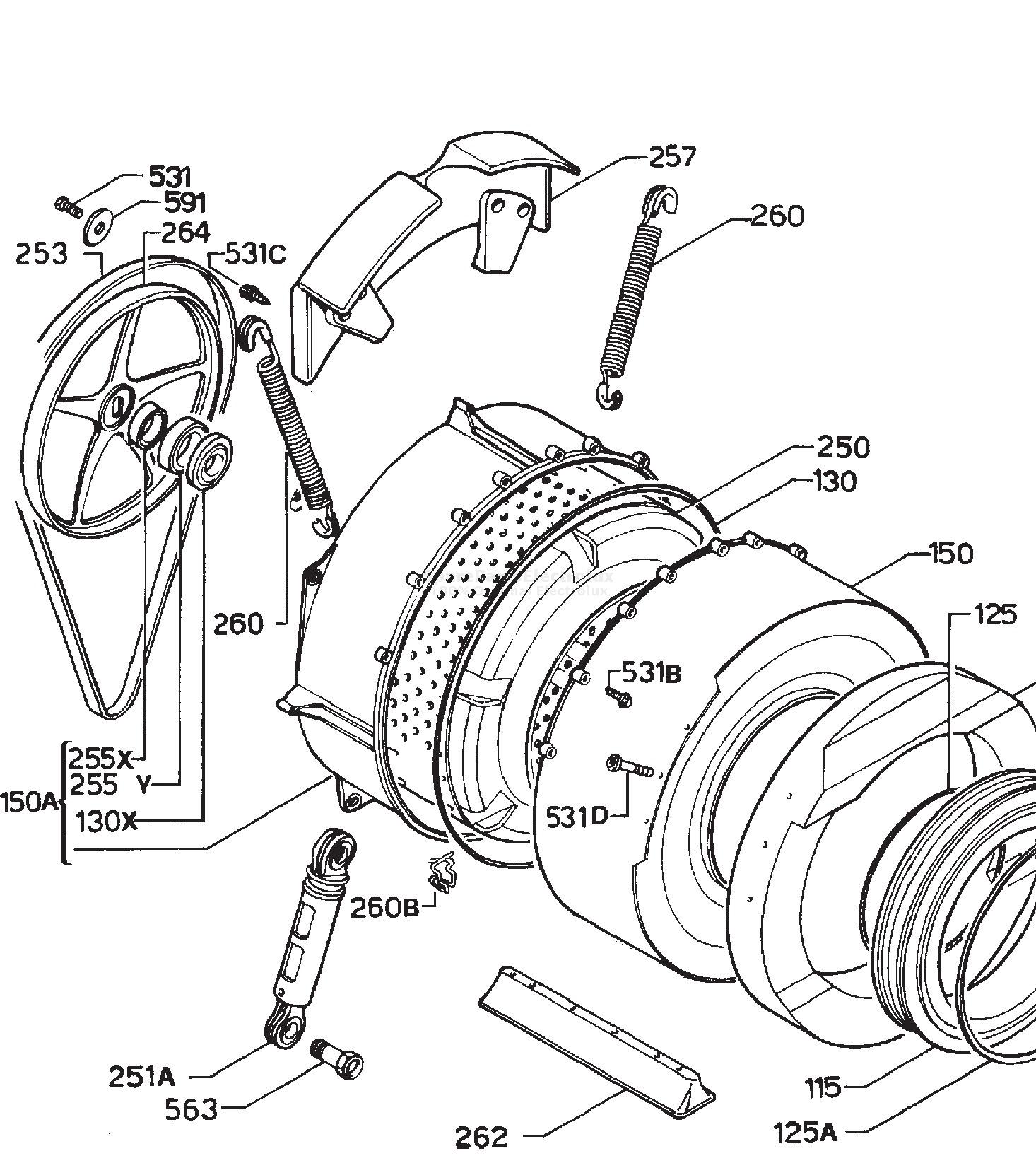 spare parts washing machine electrolux ew 514s 20000602 Washing Machine Motor Wiring Diagram manual 3
