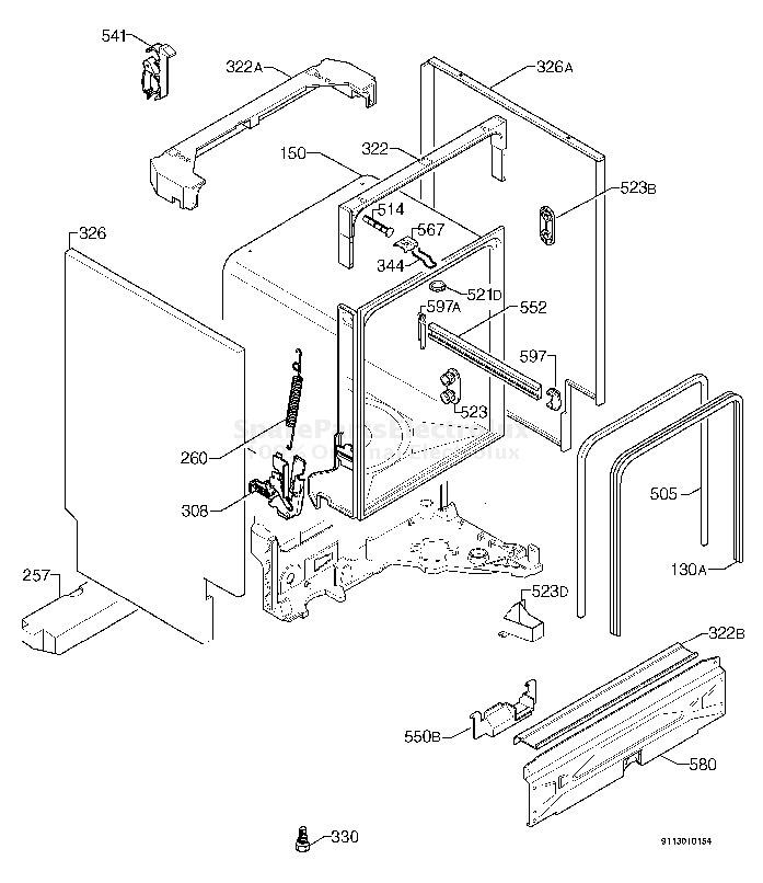 Electrolux Model E130a Wiring Diagram