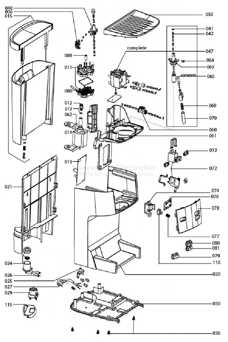 Spare Parts Coffee Machine Electrolux Eea 260 20091020 Diagram Manual 1