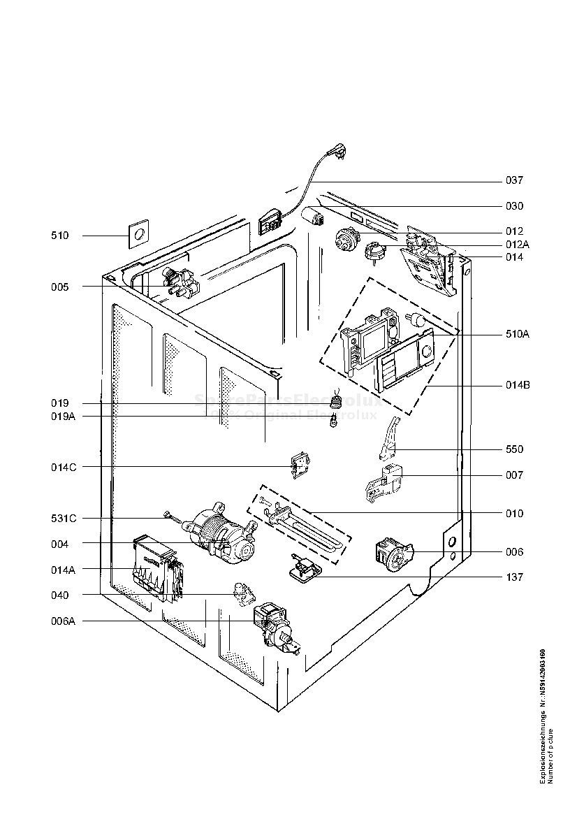 Spare Parts Washing Machine Electrolux Lavalogic 1620 20050602 Aeg Wiring Diagram Manual 5