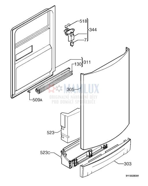 Spare Parts Dishwasher Electrolux Esf 46010 20090917