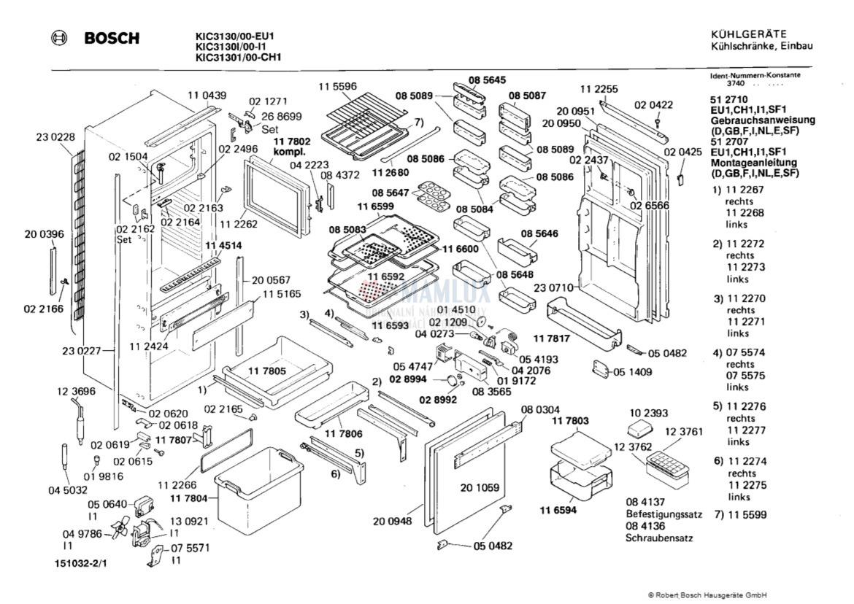 Ersatzteile Kuhlschrank Bosch Kic313000