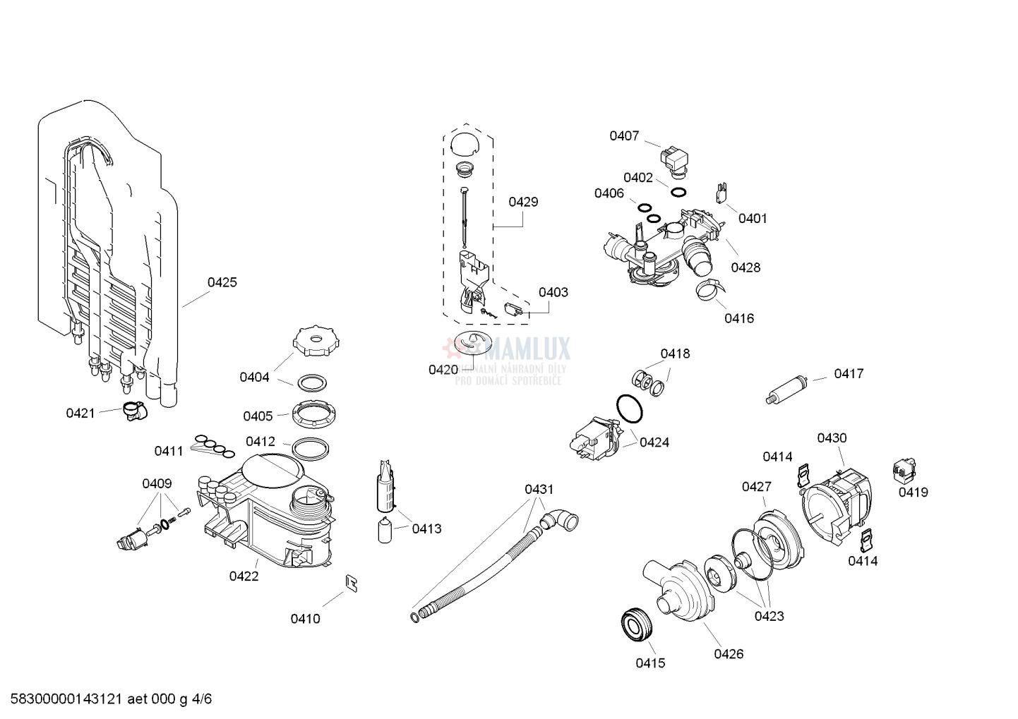 Spare Parts Dishwasher Bosch Sgv43e43eu37